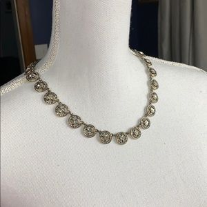 J. Crew Clear Jeweled Necklace